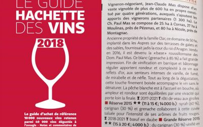 Le plein d'étoiles dans le guide hachette des vins 2018